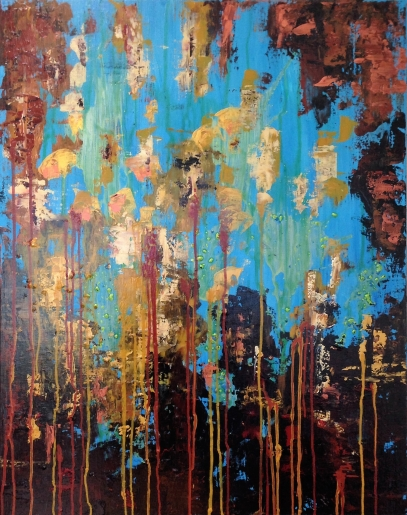 David Vall - Gold Rain - art contemporain
