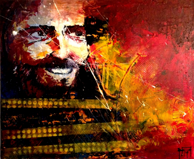 JEANJEAN - JESUS SOURIANT II - art contemporain