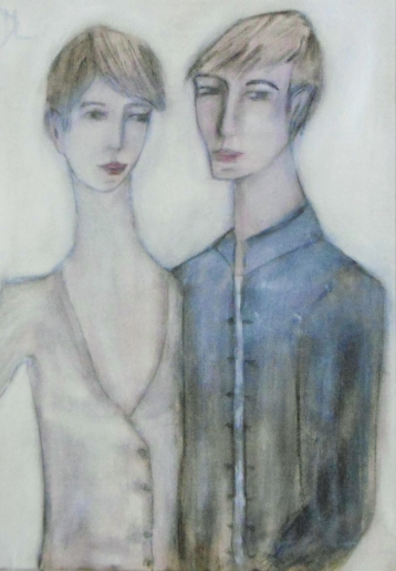 denise <strong>louin</strong> - les jeunes amants - art contemporain