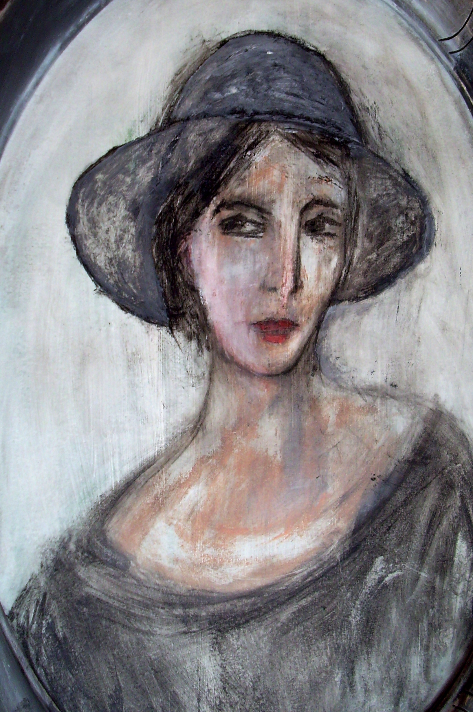 denise <strong>louin</strong> - La dame en gris - art contemporain